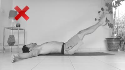 Abdominales piernas extendidas